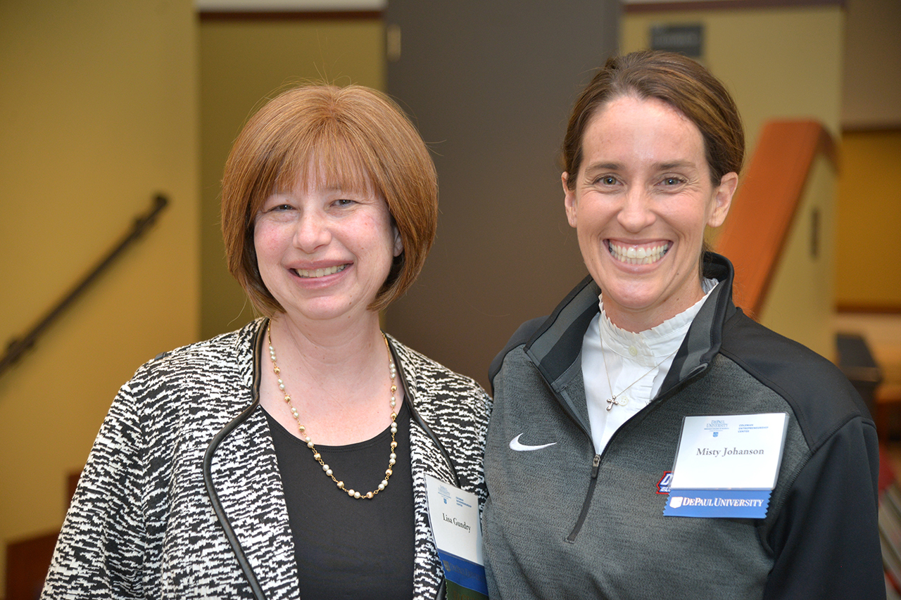 Lisa Gundry and Interim Dean Misty Johanson