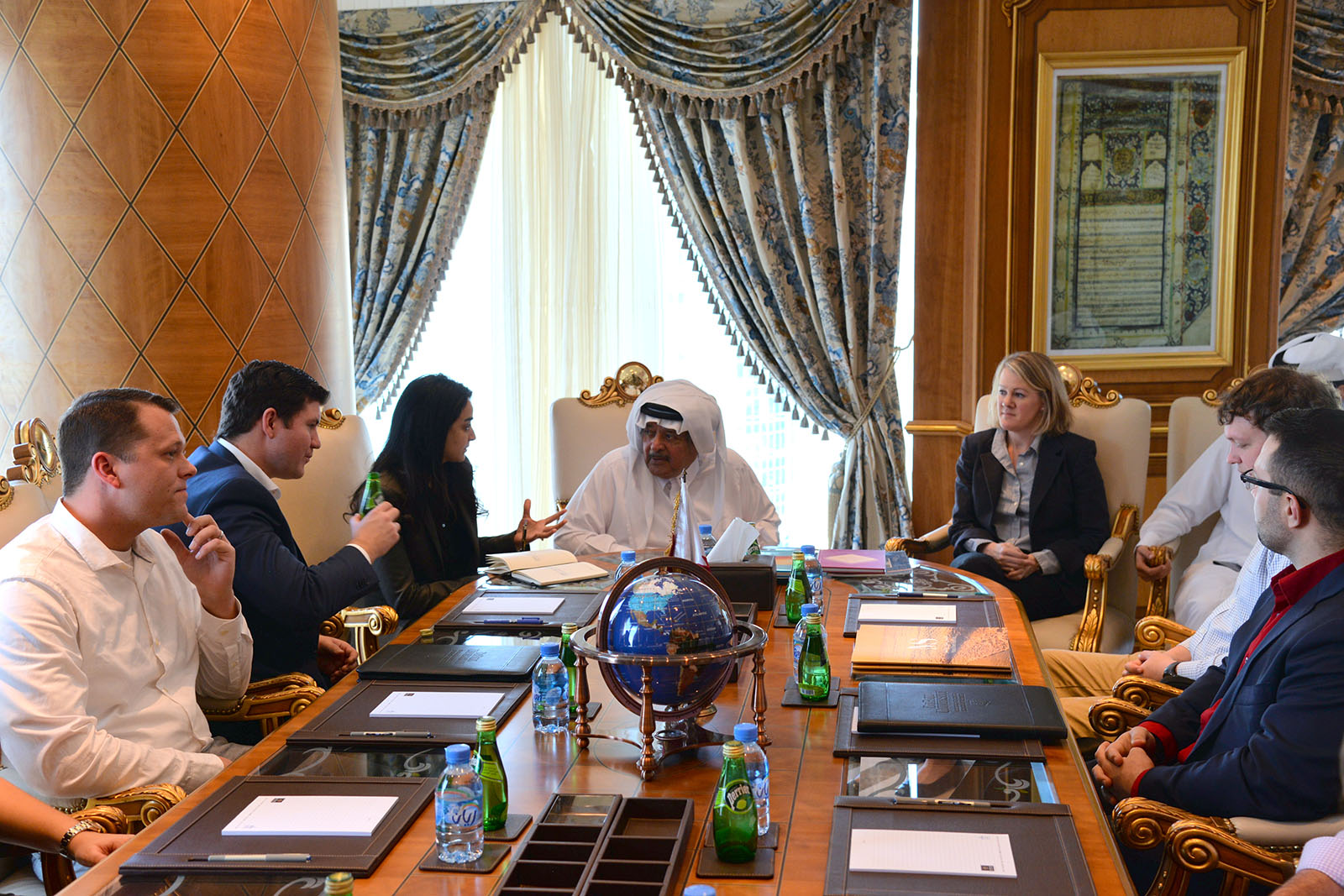 Students meet with Sheikh Faisal Bin Qassim Al Thani, Chairman & CEO of Al Faisal Holding
