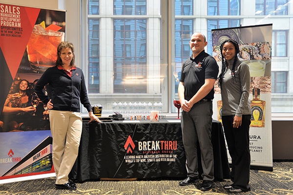Lynn Goodsell, director of Human Resources; Travis Marcotte, human resources manager; and Eileen Williamson, talent acquisition specialist at Breakthru Beverage Group.