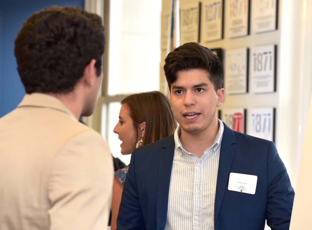 Esteban Perez is a regular pitch competitor, including Purpose Pitch 2018 and Campus 1871, which he won.
