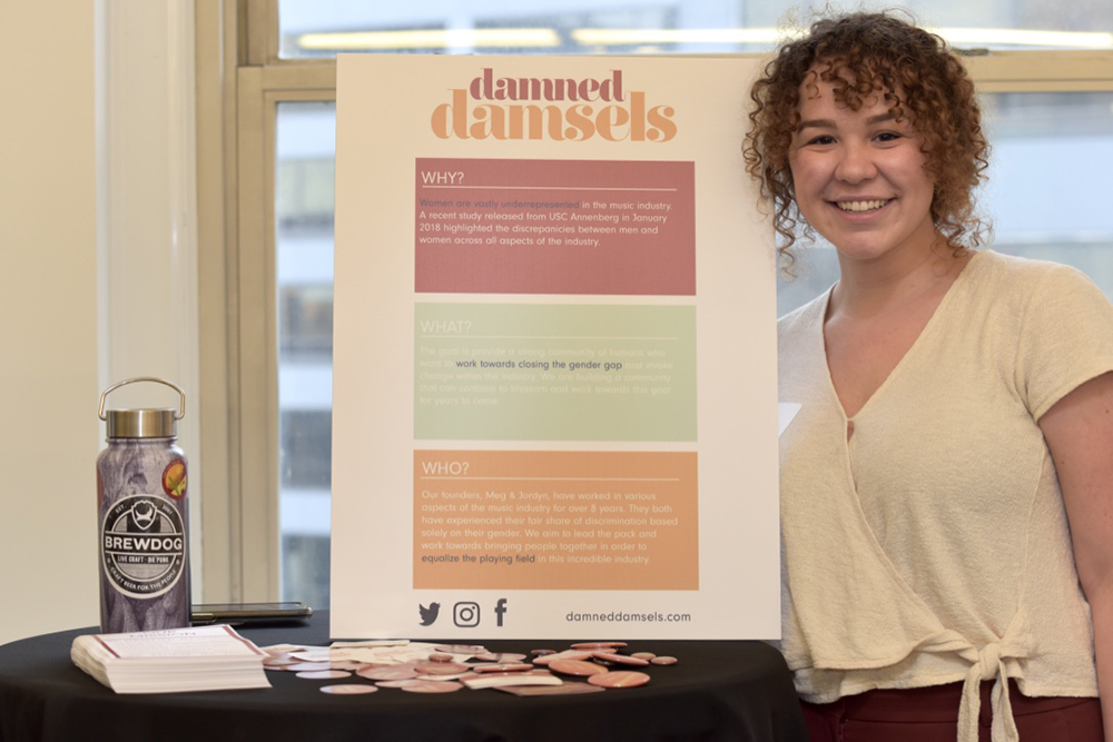 Meghan Conwell wants to equalize the playing field in the music industry with her startup, Damned Damsels.