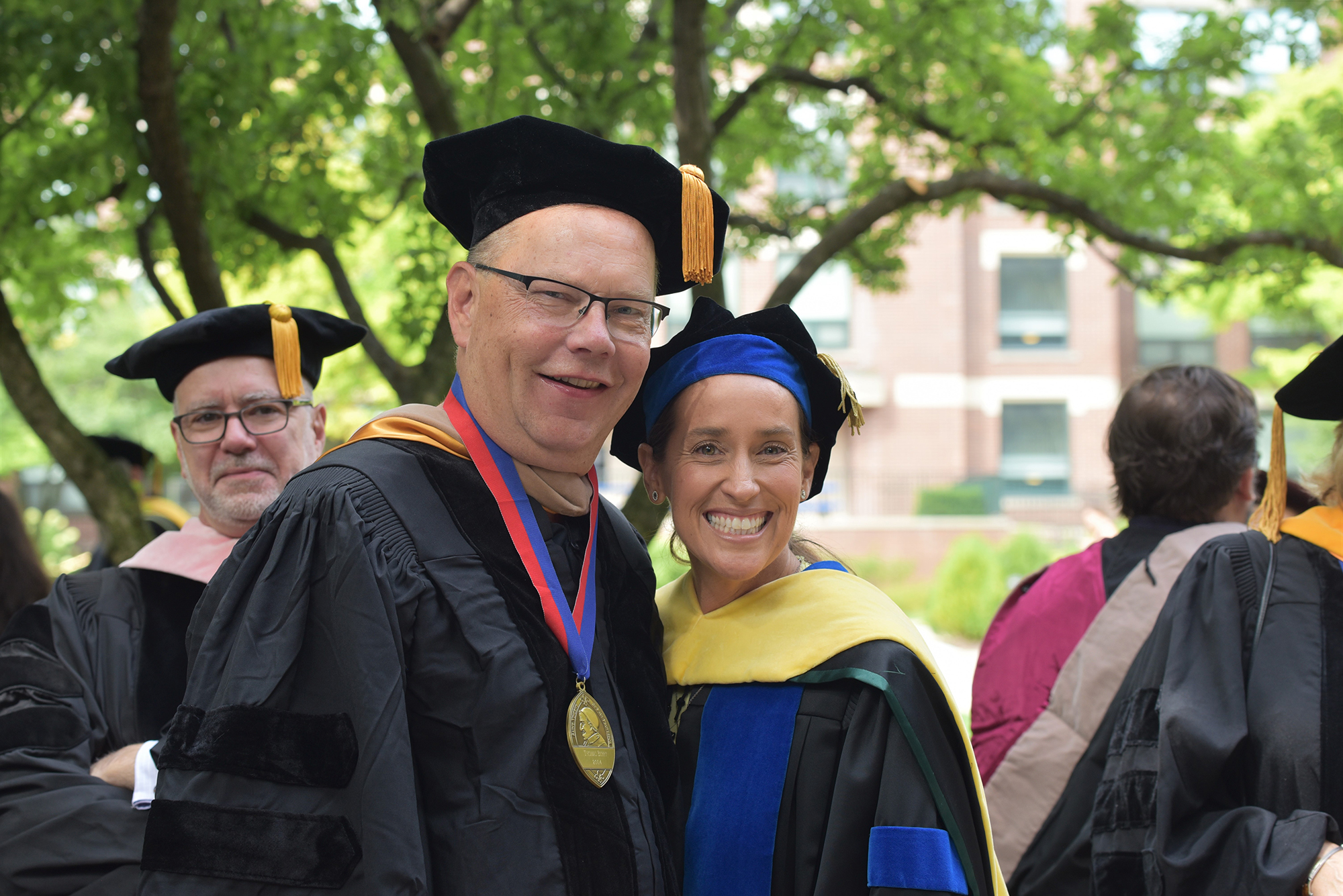 Business College Associate Dean Tom Berry and Dean Misty Johanson