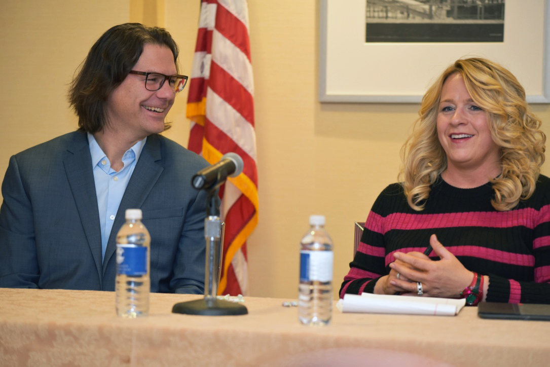 Panelists Erich Dierdorff and Claudia Saran