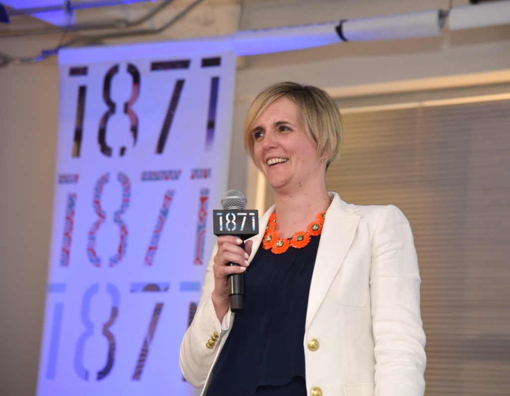 Ann Foley (LAS '99), winner of the 2018 Purpose Pitch Competition, provided the audience with an update on her business, 10th Avenue Tea, which delivers instant matcha tea powder in an eco-friendly shaker bottle.