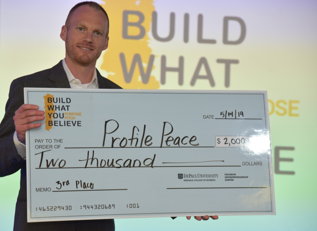 Alumni participant Evan Mahoney (BUS '07) took home third place for his business, Profile Peace, a social media closure and memorialization service that helps social media users lay online profiles to rest.