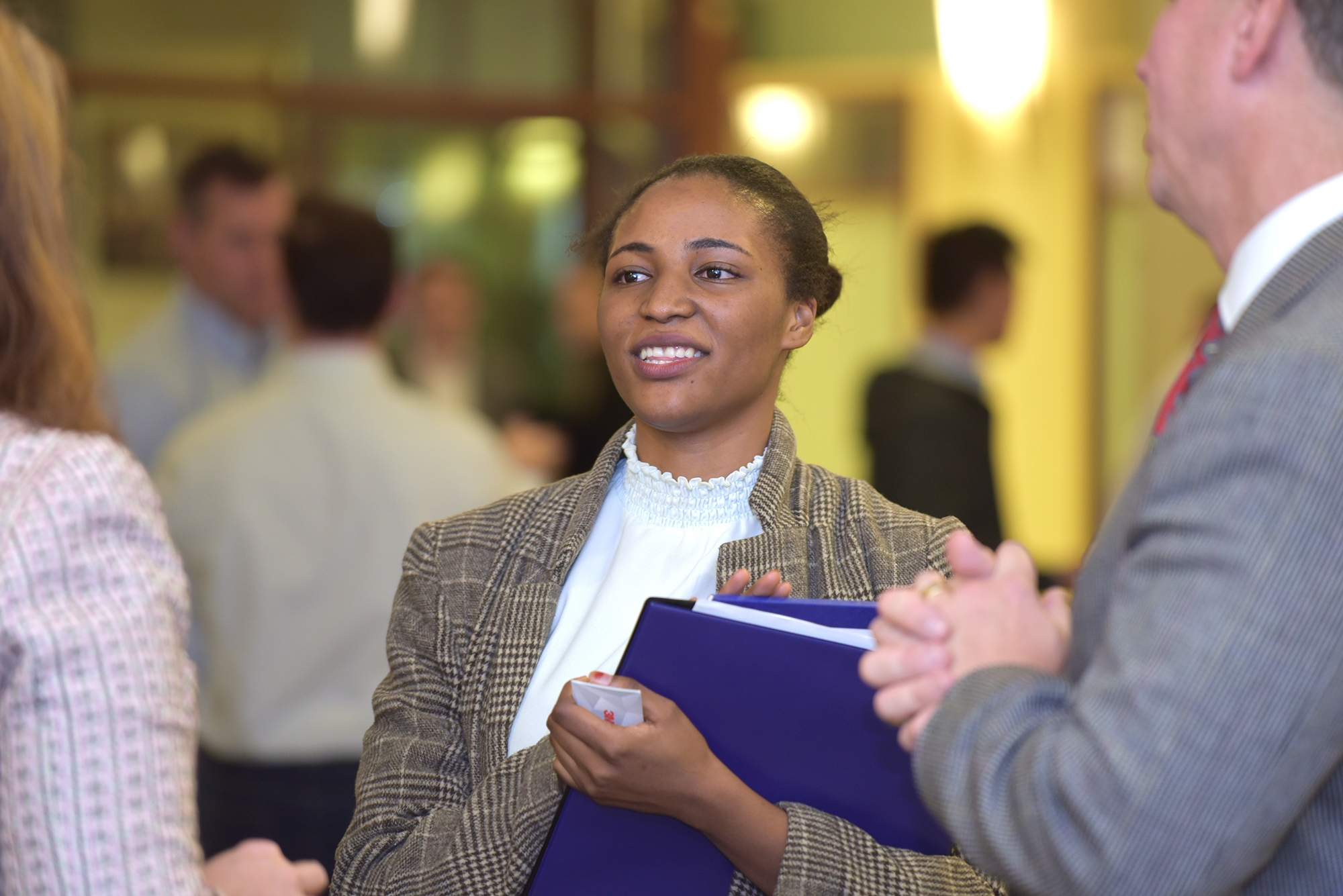 Student and employers meet at Sales Leadership Career Fair